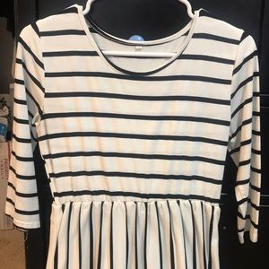 Dresses & Skirts - Black and white striped dress with pockets